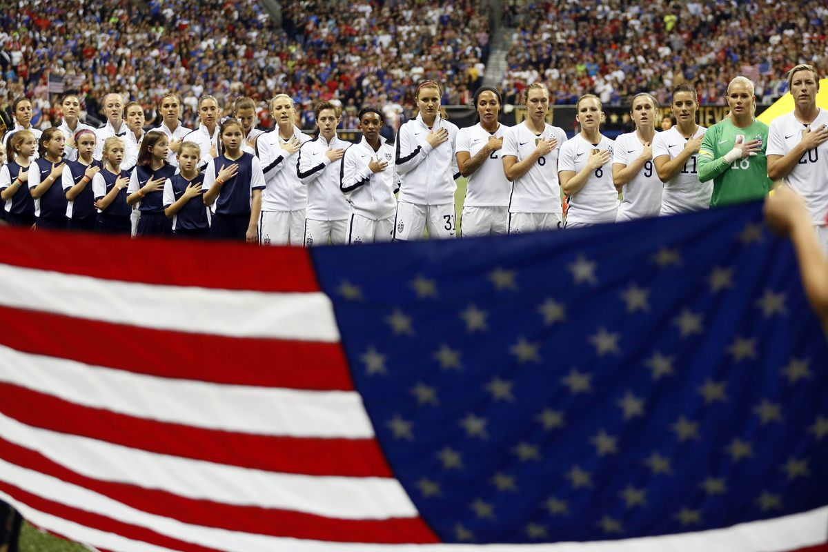 Soccer: Women's World Cup Victory Tour-Trinidad & Tobago at USA