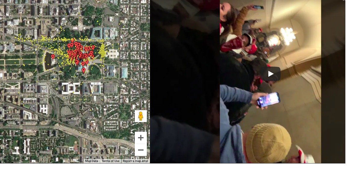 Image of article 'A Parler archive is being converted into an interactive map of the Capitol building attack'
