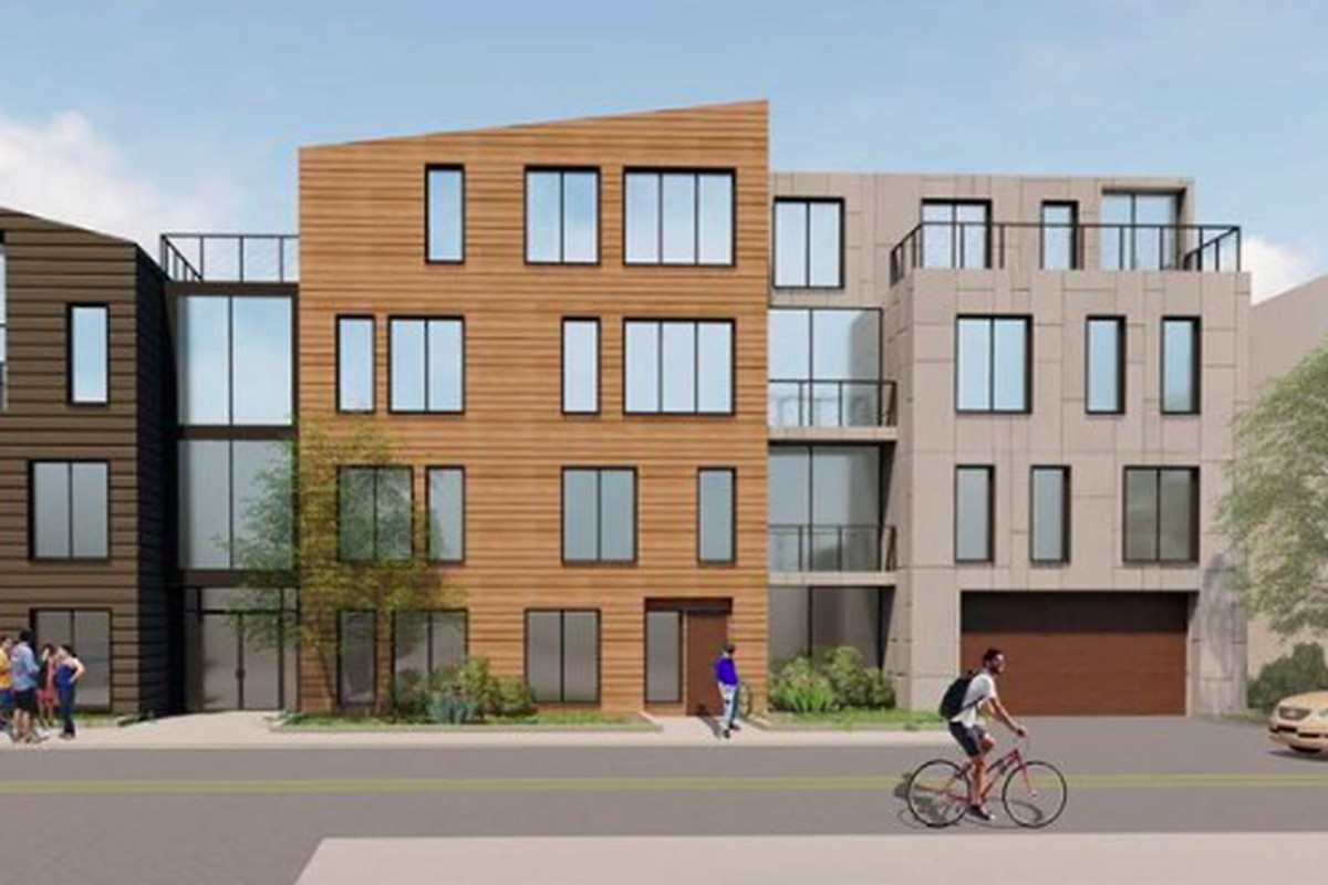 A rendering of a four-story condo building in Dorchester.