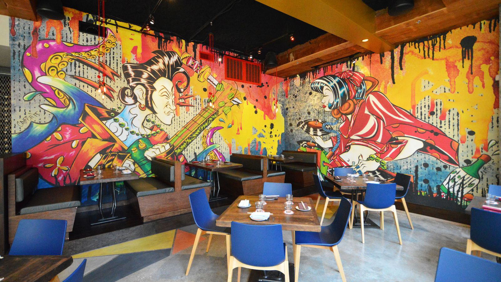 Izakaya splashes into midtown look inside and see the