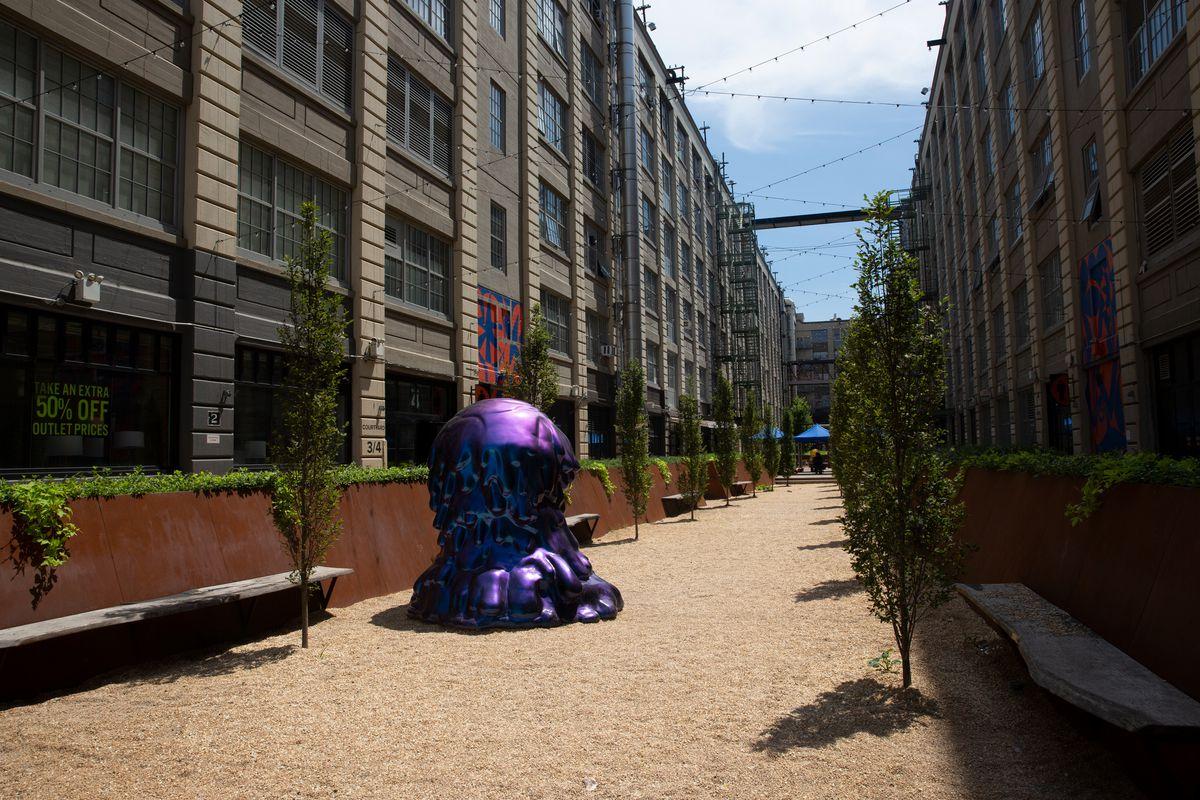 A courtyard in Brooklyn's Industry City, July 30, 2020.