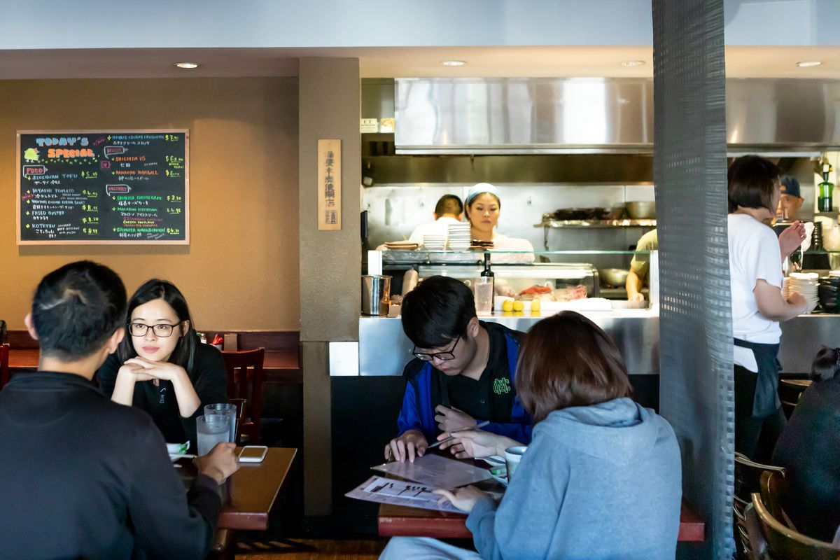 Customers order inside Kokko