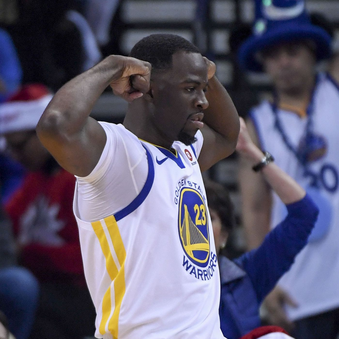 b630810dbd5 Warriors highlights  Draymond Green s triple-double helps beat Cavs ...