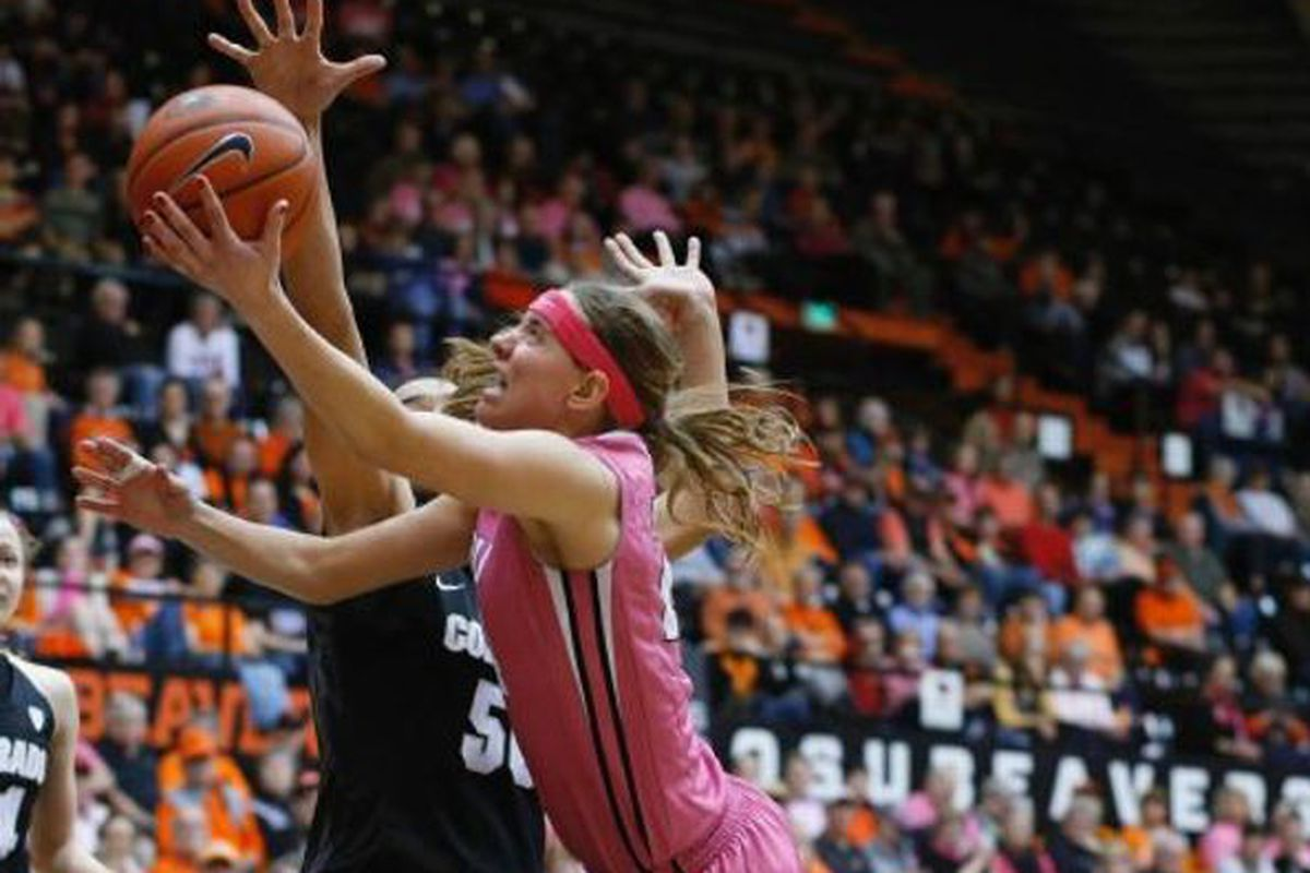 It was not always smooth going, but Sydney Wiese's big second half helped Oregon State defeat Colorado 73 to 50