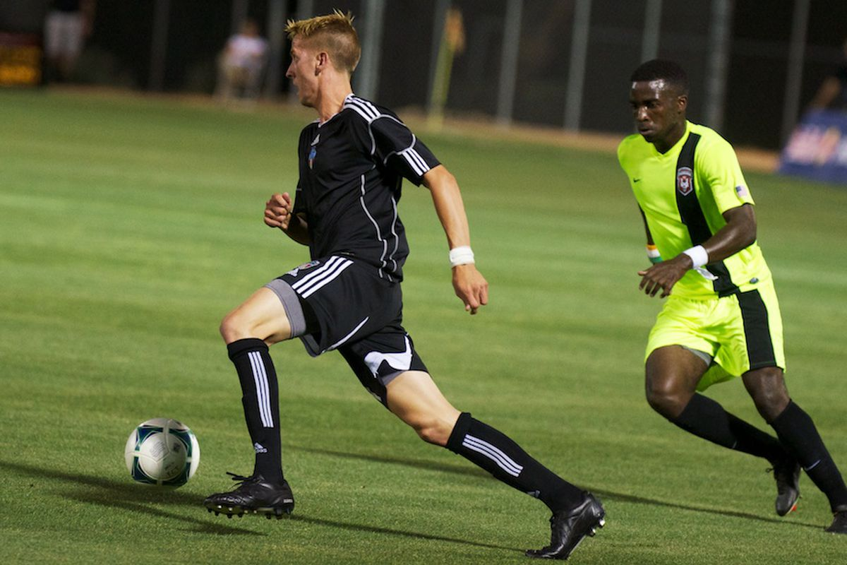 Connor Brandt in action with FC Tucson
