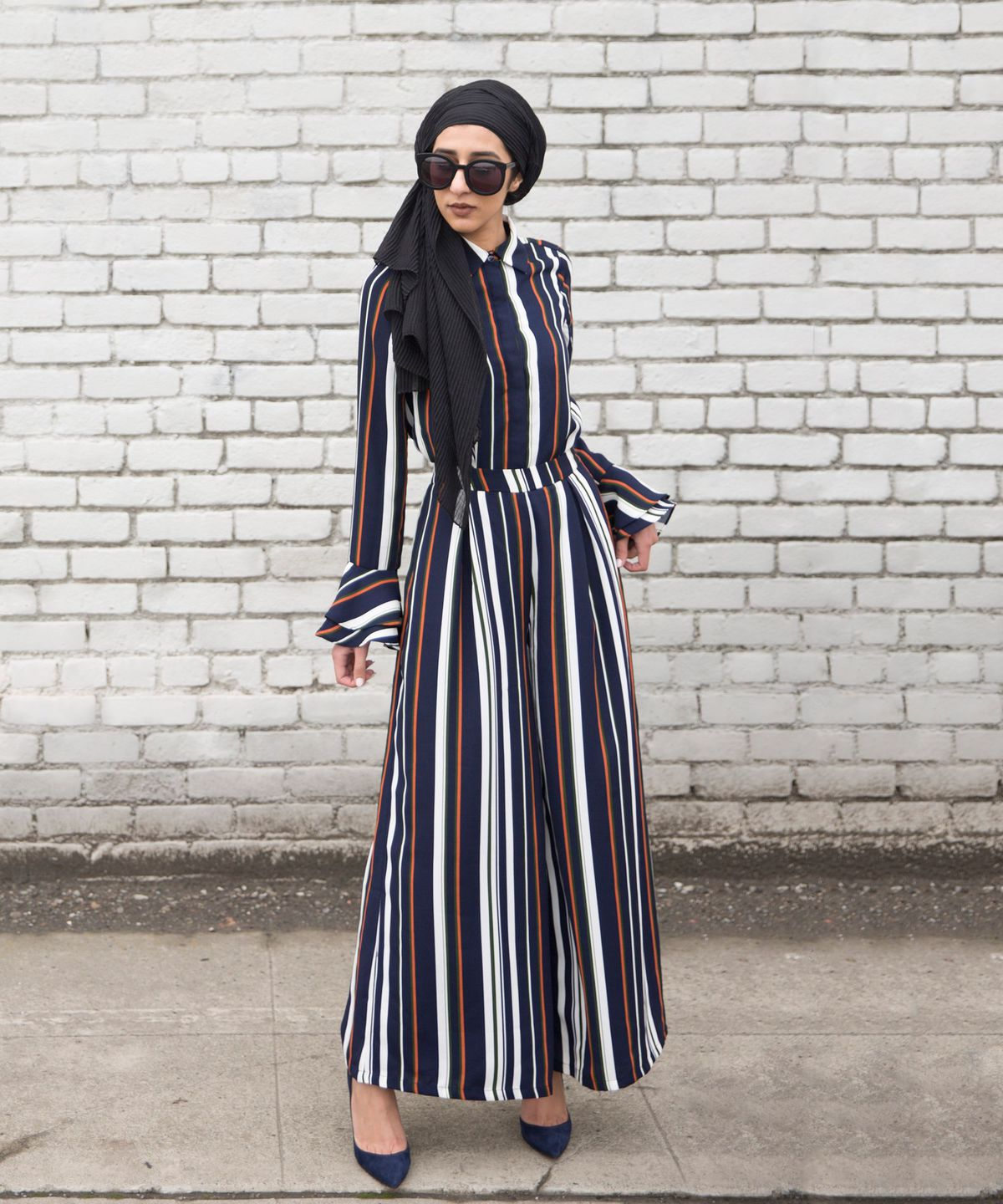 A hijab and maxi shirt-dress from the Verona Collection