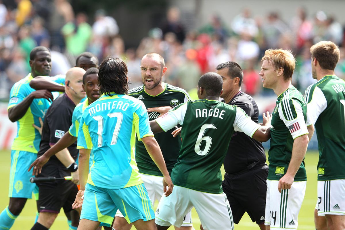 Fredy Montero did neither himself nor the Seattle Sounders by picking up a red card on Sunday.