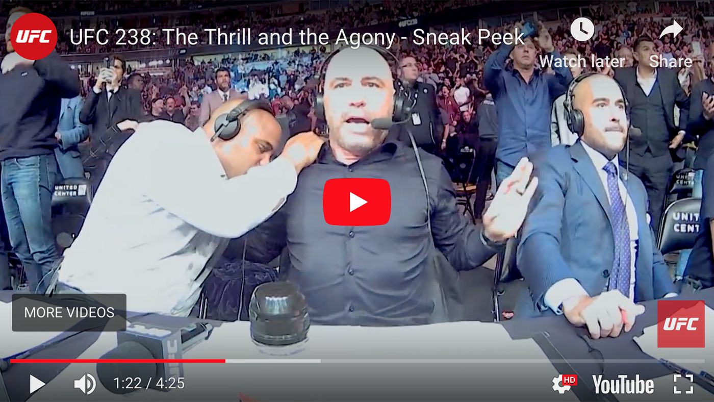 TERRIBLE! Shocked Joe Rogan reacts to Jessica Eye head kick at UFC 238 (Video)