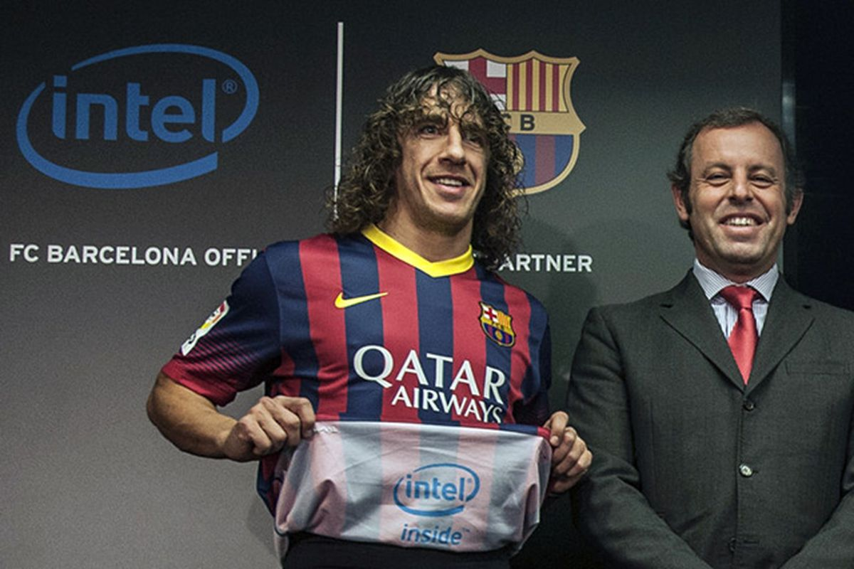 83f21ee47 Intel puts its logo inside FC Barcelona s shirt - The Verge