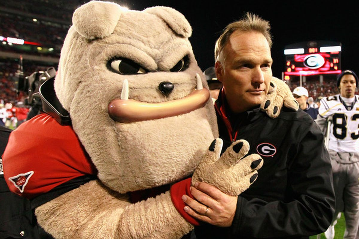 After a hard-fought victory against Clemson, Mark Richt and the Bulldog exited the stadium to enjoy some alone time.