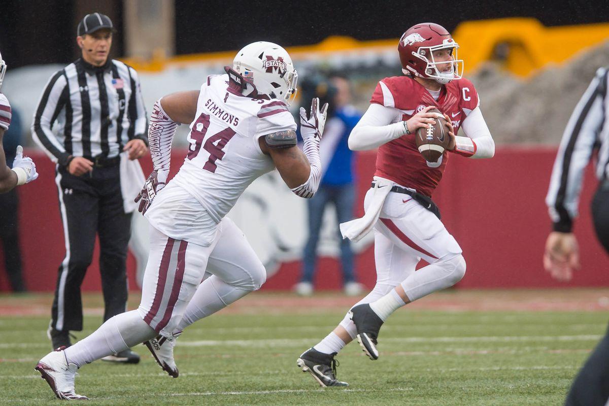 NCAA Football: Mississippi State at Arkansas