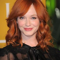 """FILE - In this Aug. 9, 2012 file photo, Christina Hendricks attends the Hollywood Foreign Press Association luncheon at the Beverly Hills Hotel in Beverly Hills, Calif. Hendricks, nominated for the third consecutive time for an Emmy for her supporting role in """"Mad Men,"""" said her dream roles would be a guest spot on """"Downton Abbey"""" and any role in """"Homeland."""""""