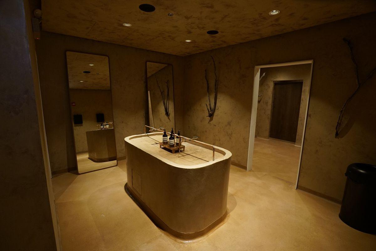 An industrial-made sink