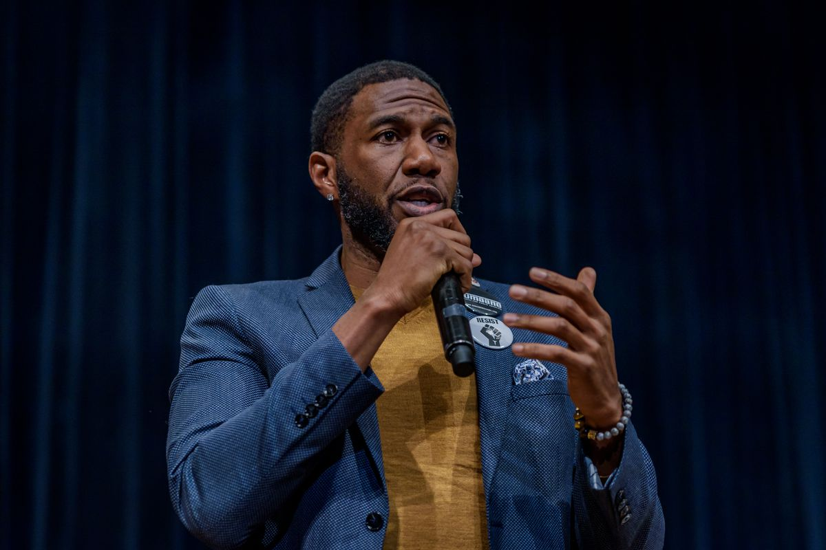 Public advocate-elect Jumaane Williams participates in a forum before the election.
