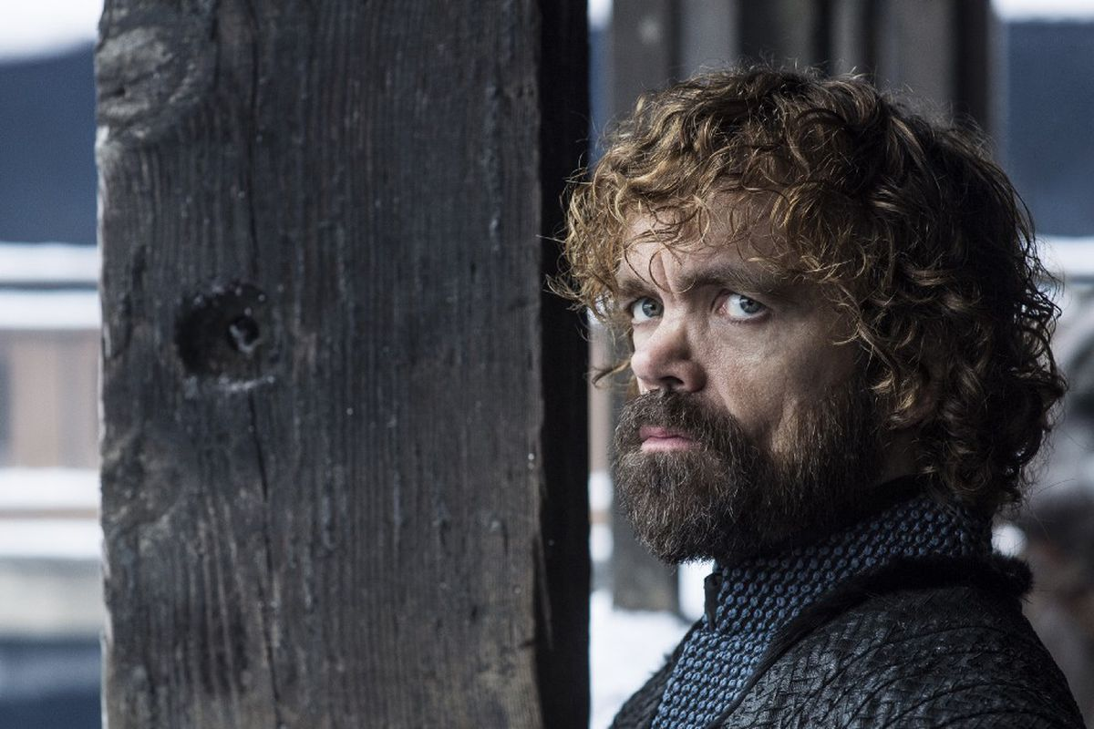 Peter Dinklage as Tyrion Lannister in the final season of Game of Thrones.
