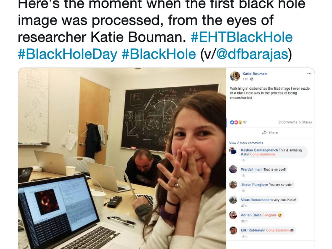 The black hole image and Katie Bouman: the sexist backlash against