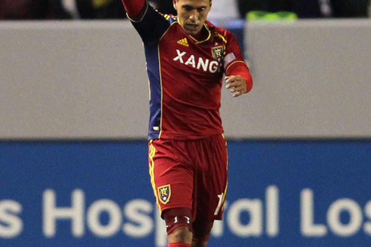 Will Javier Morales get a chance to celebrate against Chivas USA on Saturday?  It would be sweet revenge for sure. (Photo by Victor Decolongon/Getty Images)