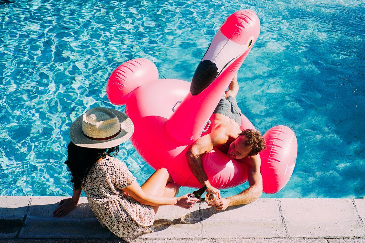 Flamingo pool floatie at the Flamingo Resort