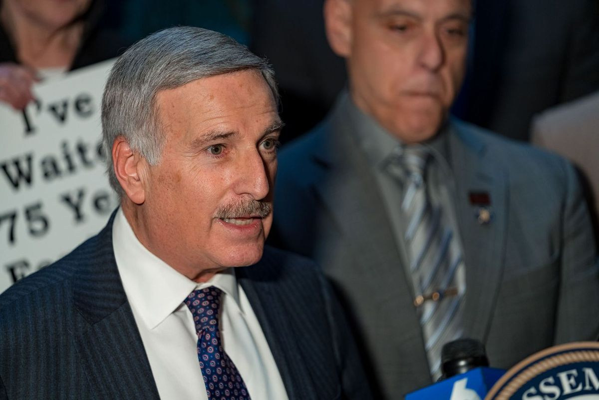 Assemblyman David Weprin (D-Queens) speaks at a January 2020 press conference.