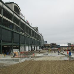 3:47 p.m. The west side of the ballpark -