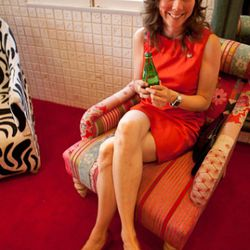 Nikki Monninger of Silversun Pickups: super stylish and sweet as pie.