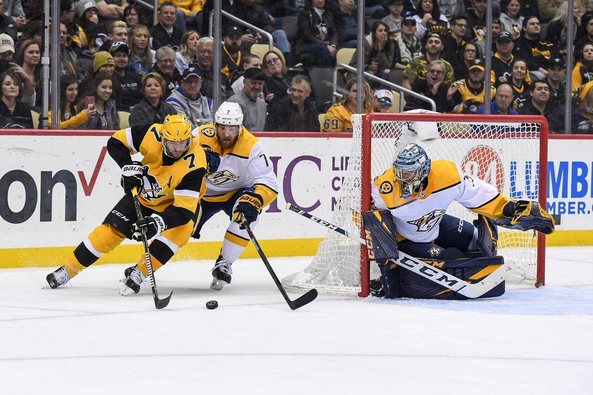 NHL: MAR 29 Predators at Penguins