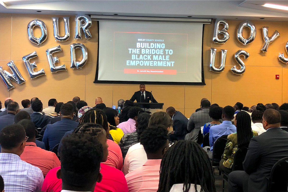 Superintendent Joris Ray announced an initiative for black boys Monday at the National Civil Rights Museum.