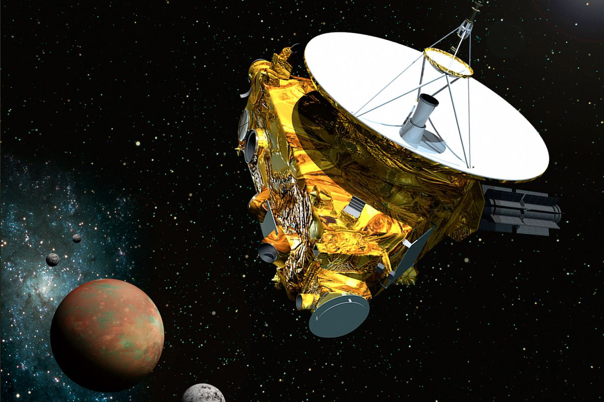 An illustration of the New Horizons probe, due to reach Pluto in July.