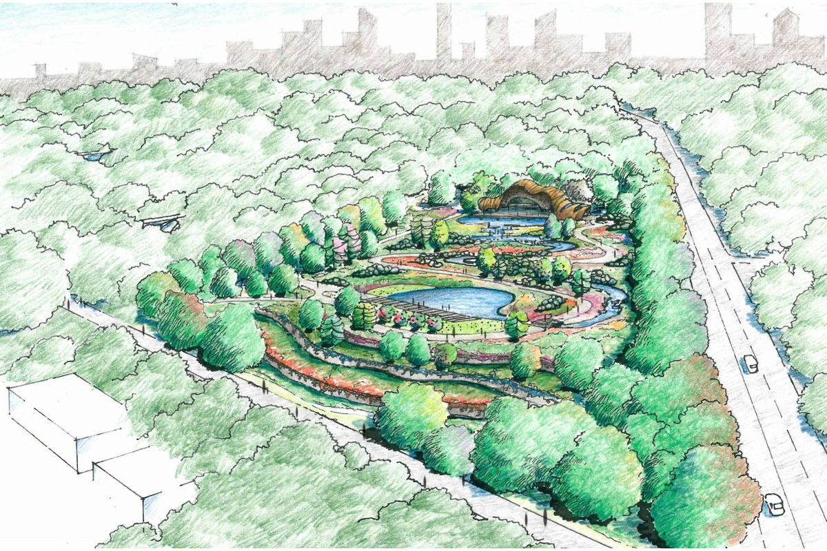 Piedmont park atlanta botanical garden will see 100m for Home garden design atlanta