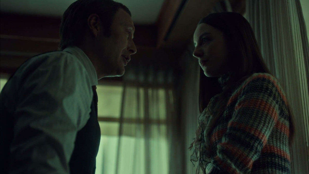 Hannibal and Abigail prepare to fake her death.