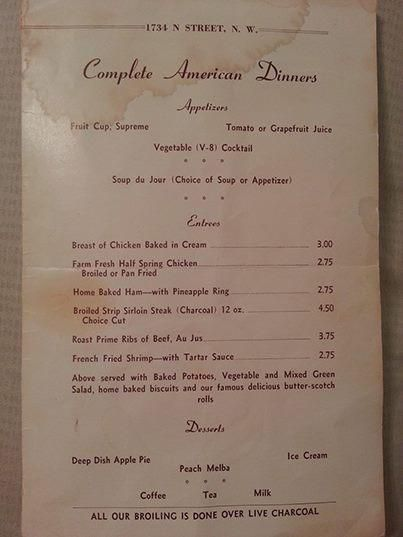 Travel Back in Time with These Old Restaurant Menus - Eater DC