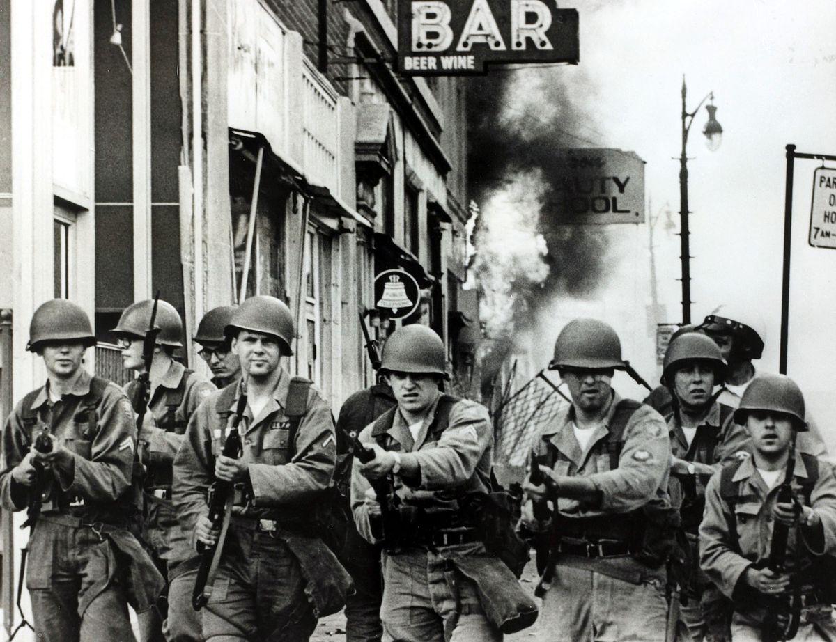detroit national guard civil unrest