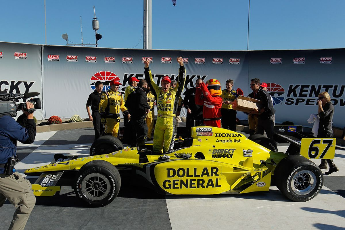 Sarah Fisher's IndyCar team scored a dramatic Cinderella victory at Kentucky last season. Now they are on the sidelines without an engine contract. (Photo by Justin Edmonds/Getty Images)