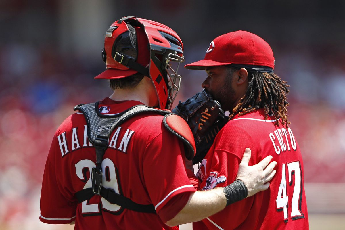 Johnny Cueto and Ryan Hanigan are a deadly battery duo in limiting the running game? But who should get the credit?