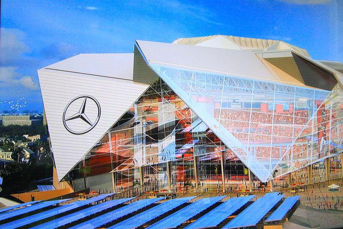 Atlanta falcons mercedes benz stadium will be chock full for Mercedes benz arena atlanta