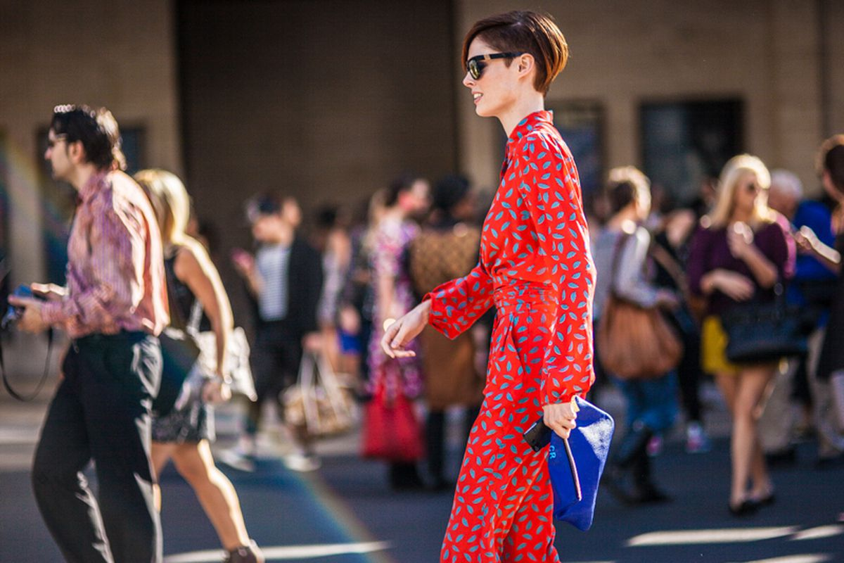 A jumpsuit spotted during NYFW