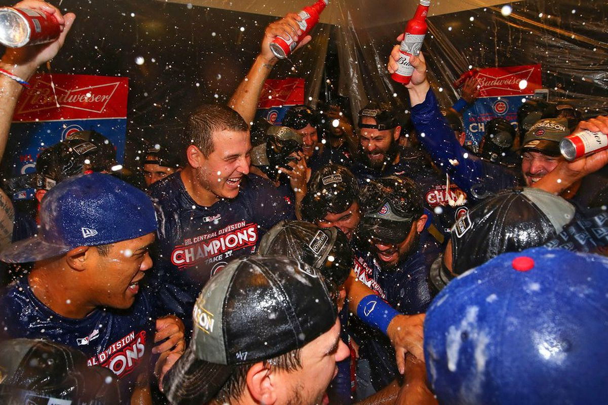 313e2c214 Party like it's 2016: inside Wednesday's Cubs clubhouse celebration ...