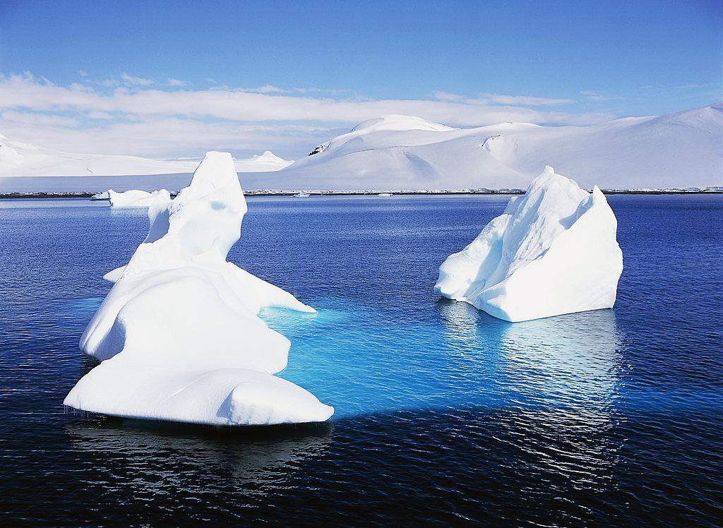 Icebergs, Paradise Harbour, Antarctic Peninsula, Antarctica.