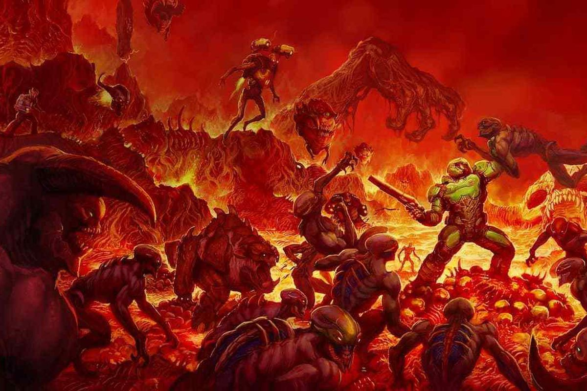 Modder Re Creates Doom 2016 In Doom 2 Polygon