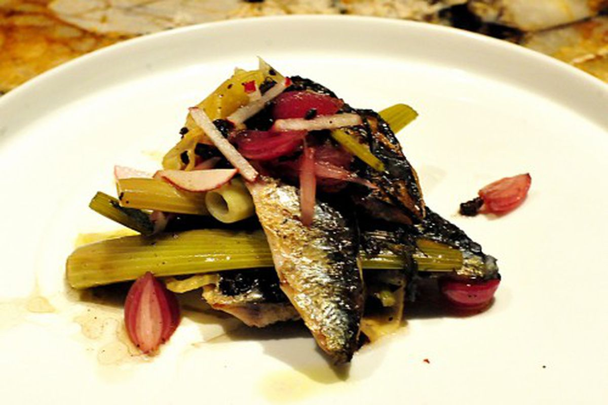"""Grilled sardines at Fish Tag by <a href=""""http://www.flickr.com/photos/thupamodel/5220942158/in/pool-29939462@N00/"""">Alessia Elysee</a>"""