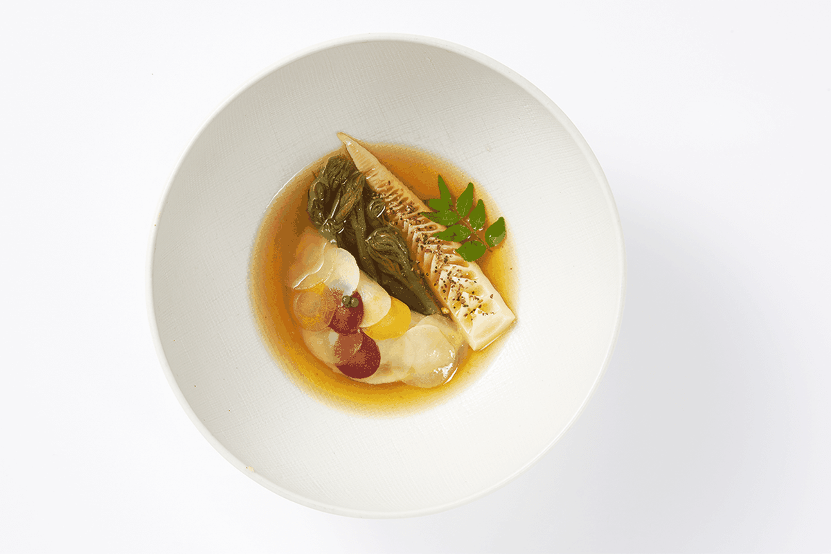 A Dish At Mingles Which Has Two Stars In This Year S Michelin Guide To Seoul