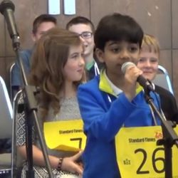 """Competing against spellers twice his age, six-year-old Akash Vukoti was eliminated from the 2016 Scripps National Spelling Bee on Wednesday when he misspelled """"bacteriolytic"""" in Round 3 but there is little question that the future is bright for Vukoti."""