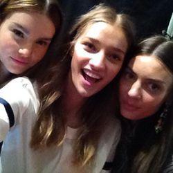 Model selfie backstage at J. Crew during New York Fashion Week on Sept. 10.