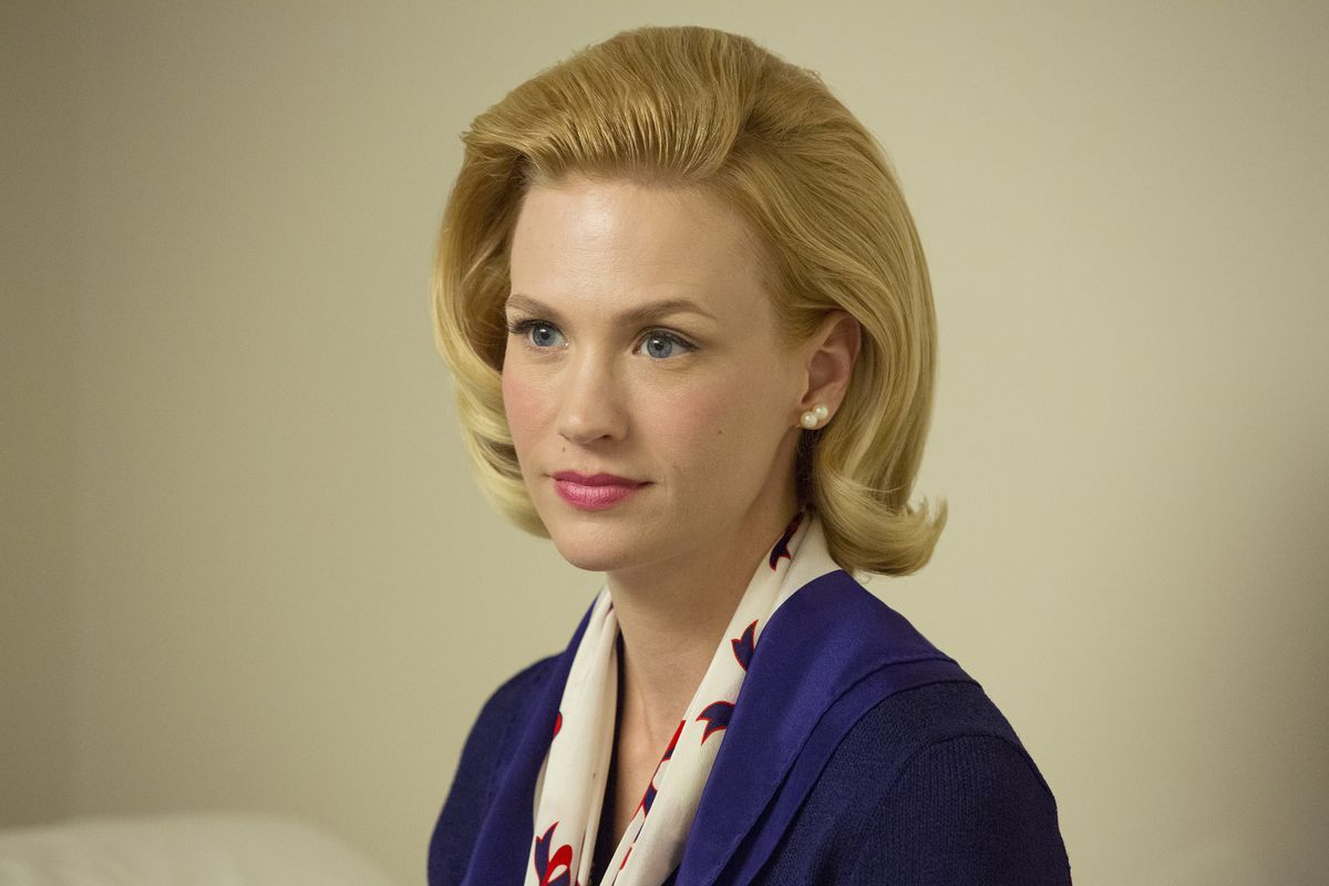 Betty (January Jones) has to deal with some bad news on the next-to-last episode of Mad Men.