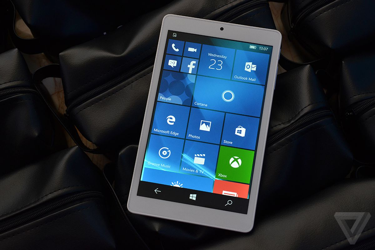 windows 10 mobile on an 8 inch tablet looks like a giant phone the verge. Black Bedroom Furniture Sets. Home Design Ideas