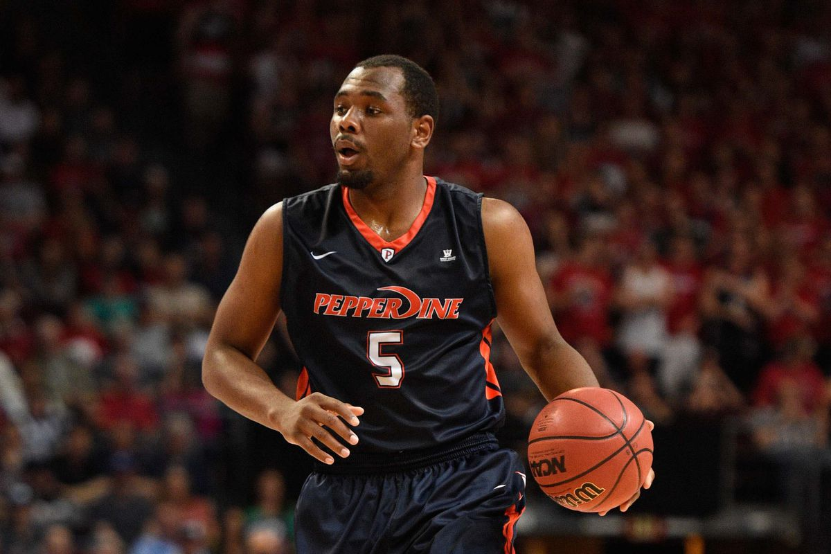Pepperdine's all-WCC senior forward posted 10 points and nine rebounds against BYU.