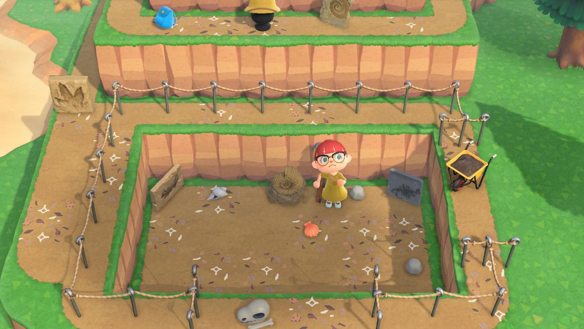 un site d'excavation dans Animal Crossing: New Horizons