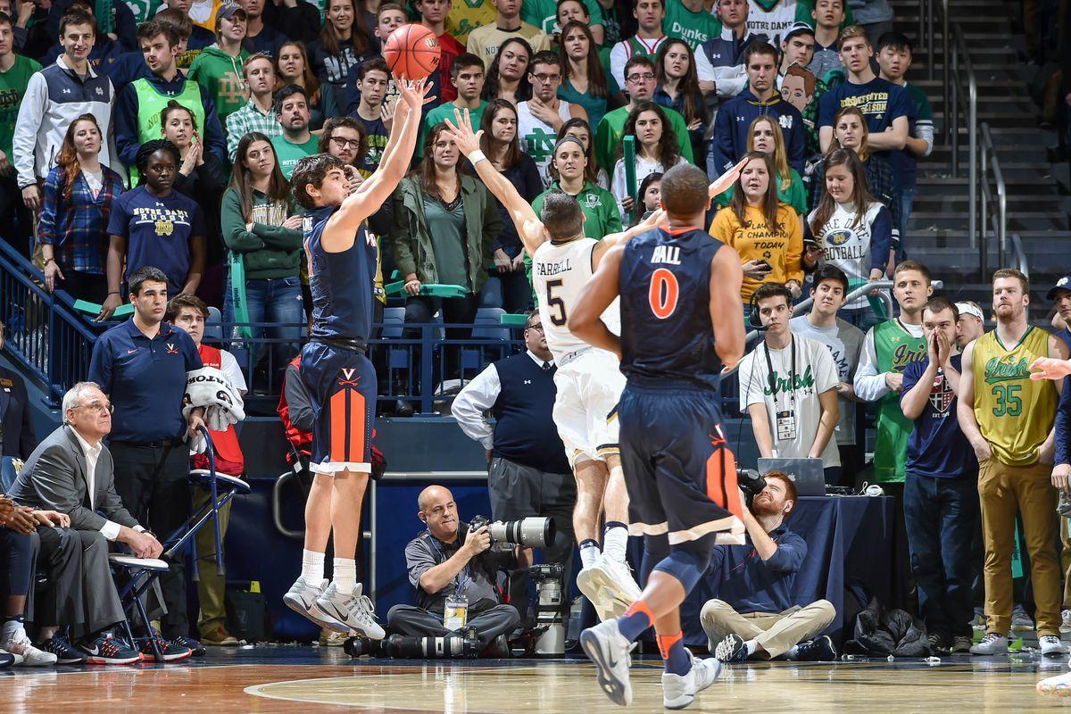 NCAA Basketball: Virginia at Notre Dame