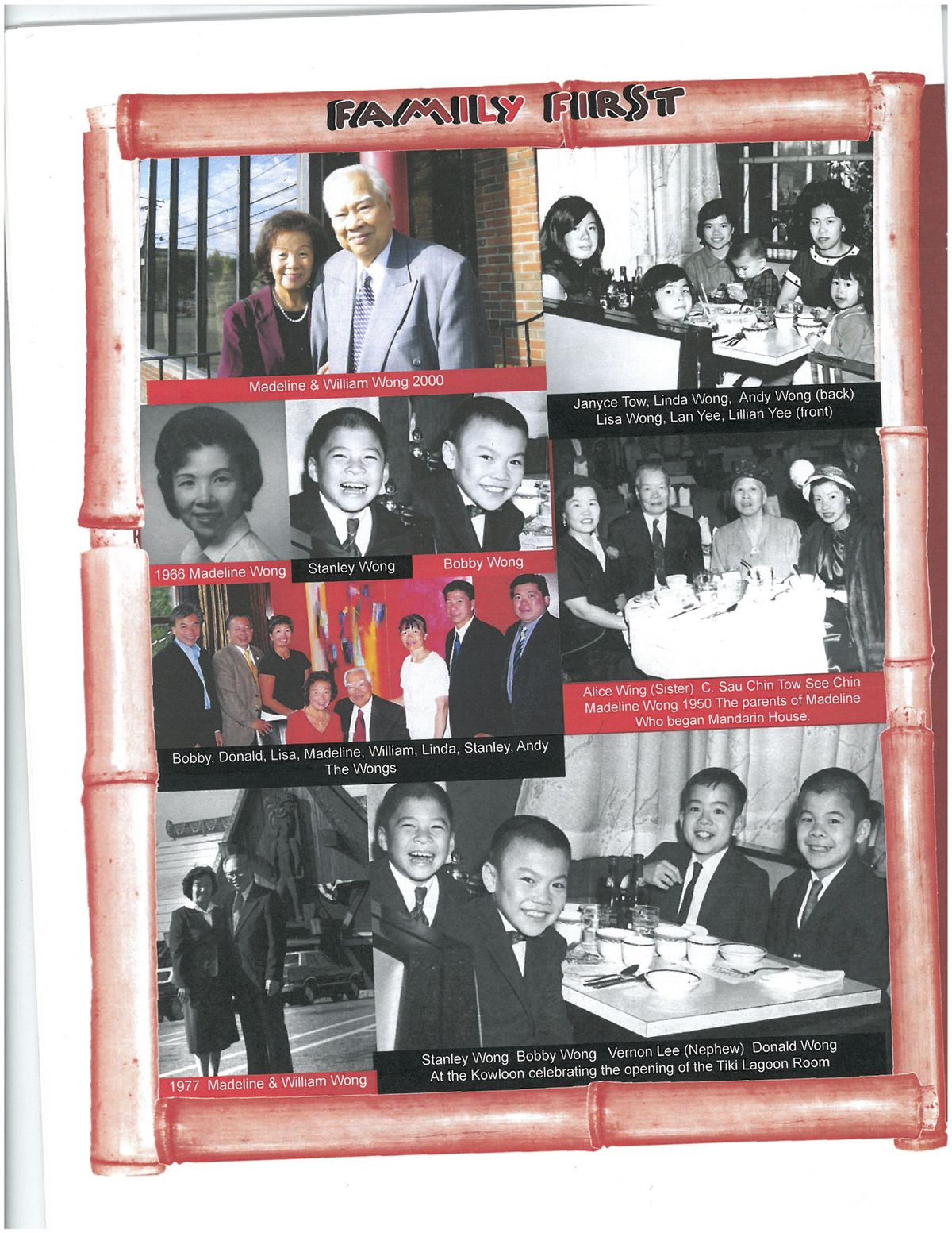 Kowloon - Wong family collage