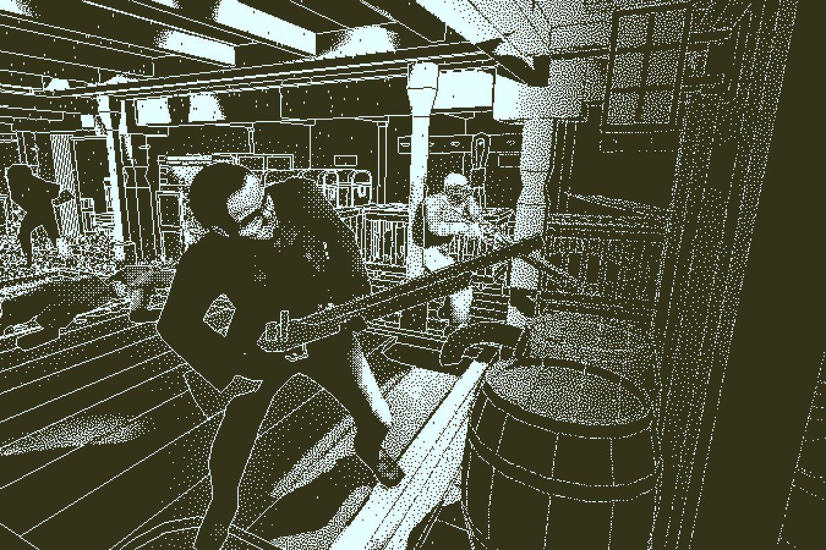 Return of the Obra Dinn - men carrying long guns